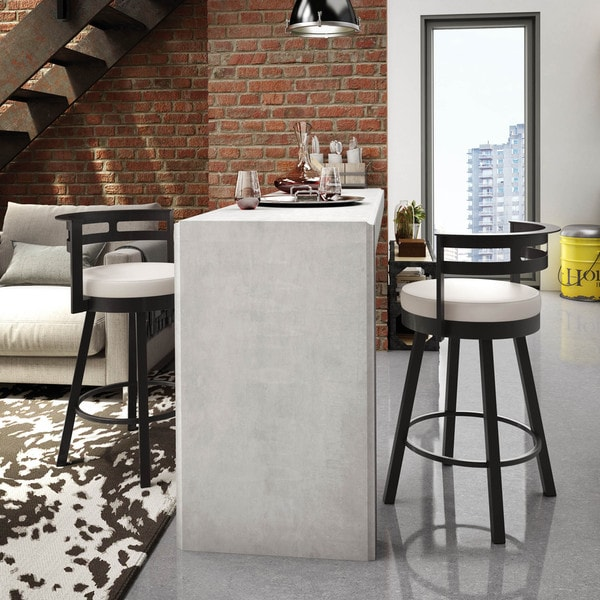 Amisco Render 26 Inch Swivel Metal Counter Stool Free