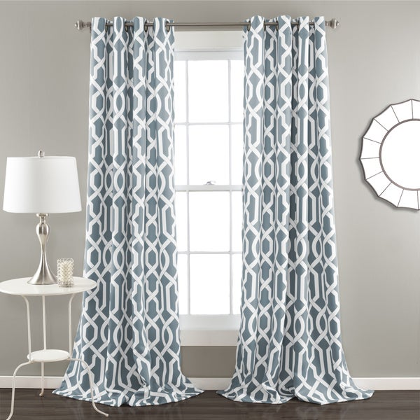 Lush Decor Edward Blackout Window Curtain Panel Pair - 17331490 ...
