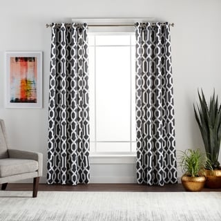 Lush Decor Edward Moroccan Pattern Blackout Curtain Panel Pair