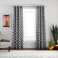 Lush Decor Edward Moroccan Pattern Blackout Curtain Panel Pair