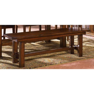 Hearthstone Traditional Rustic Oak Dining Bench Free