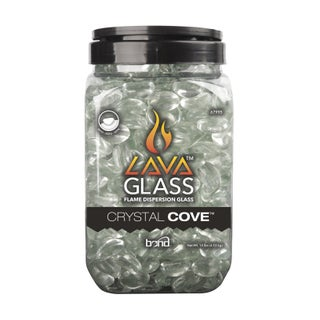 Bond Manufacturing Clear Gloss Fire Pit Lava Glass Glass