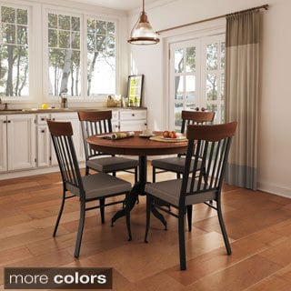 Amisco Lighthouse Metal Chairs and Tina Table Dining Set