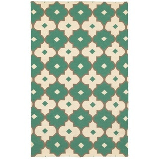 Rizzy Home Swing New Zealand Wool Blend Hand-woven Dhurrie Accent Rug (8' x 10')