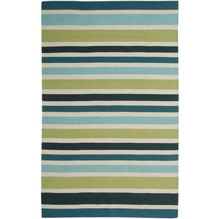 Rizzy Home Swing New Zealand Wool Blend Hand-woven Dhurrie Area Rug (2'6 x 8')