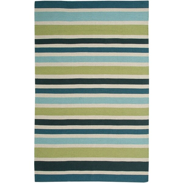 """Rizzy Home Swing New Zealand Wool Blend Hand-woven Dhurrie Area Rug (2'6 x 8') - 2'6"""" x 8'"""