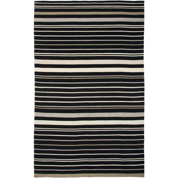 Rizzy Home Swing New Zealand Wool Blend Hand-woven Dhurrie AreaRug (8' x 10') - 8' x 10'