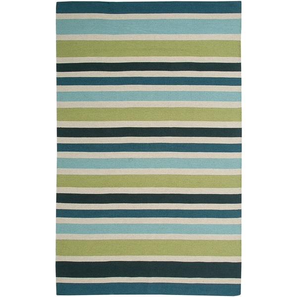 Rizzy Home Swing New Zealand Wool Blend Hand-woven Dhurrie Accent Rug (5' x 8')