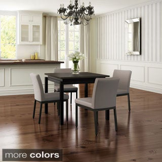 Carbon Loft Bunsen Metal Chairs and Table Dining Set