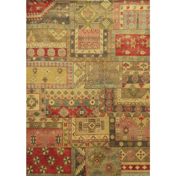 Rizzy Home Aquarius Hand-knotted Hand-spun Accent Rug (3' x 5') - 3' x 5'