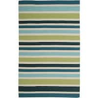 Rizzy Home Swing New Zealand Wool Blend Hand-woven Dhurrie Accent Rug (3' x 5')