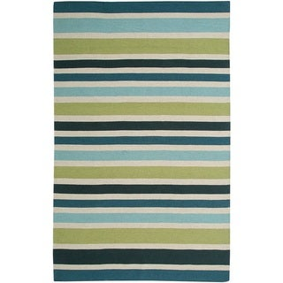 Rizzy Home Swing New Zealand Wool Blend Hand-woven Dhurrie Accent Rug (3' x 5') - 3' x 5'