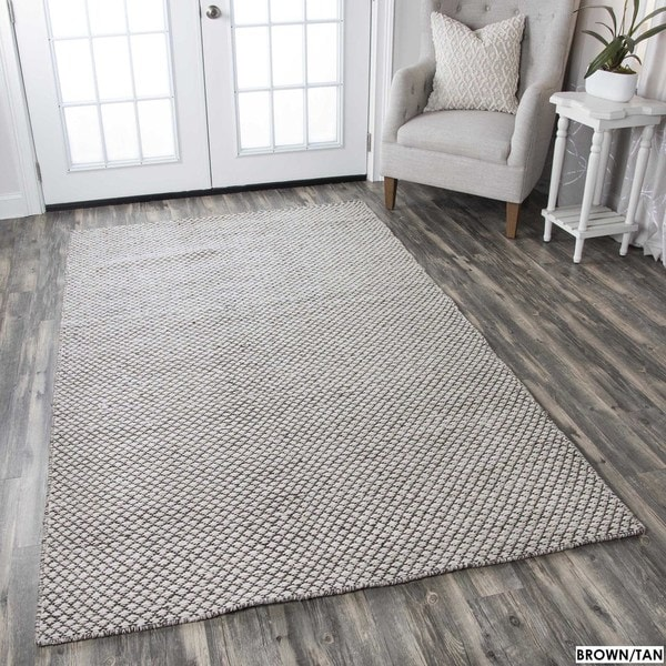 Rizzy Home Twist 100-percent Wool Hand-woven Accent Rug (5' x 8') - 5' x 8'