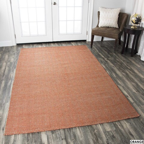 Rizzy Home Twist Hand-woven Wool Accent Rug - 9' x 12'