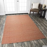 Rizzy Home Twist Hand-woven 100-percent Wool Accent Rug (8' x 10') - 8' x 10'