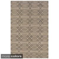 Rizzy Home Hand-woven Swing New Zealand Wool Blend Dhurrie Accent Rug - 8' x 10'