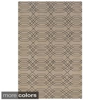Rizzy Home Swing New Zealand Wool Blend Hand-woven Dhurrie Accent Rug (5' x 8') - 5' x 8'