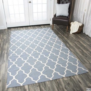 Rizzy Home Swing Hand-woven New Zealand Wool Blend Dhurrie Accent Rug (8' x 10')