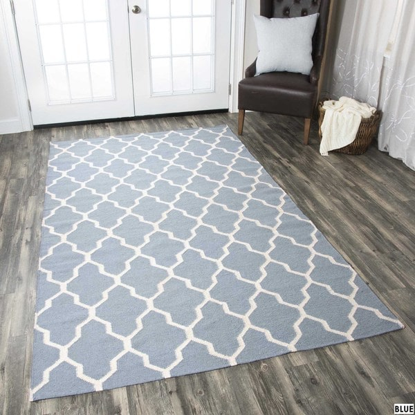Shop Rizzy Home Swing New Zealand Wool Blend Hand-woven
