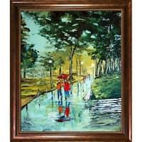 Atelier De Jiel 'Walking Under Rain' Framed Fine Art Print