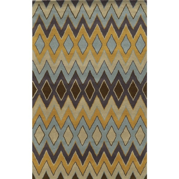 Rizzy Home Pierre 100-percent Wool Hand-tufted Accent Rug (2' x 3') - 2' x 3'
