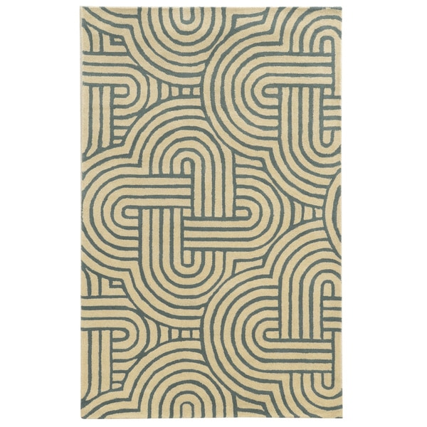 Rizzy Home Julian Pointe 100-percent Wool Hand-Hand-Tufted Accent Rug (2' x 3') - 2' x 3'