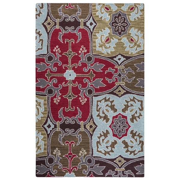 Rizzy Home Country Collection Hand-tufted New Zealand Wool Blend Accent Rug (2' x 3') - 2' x 3'