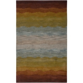 Rizzy Home Hand-tufted New Zealand Wool Colours Area Rug (2' x 3')