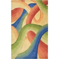 Rizzy Home Colours New Zealand Wool Hand-tufted Area Rug - 2' x 3'