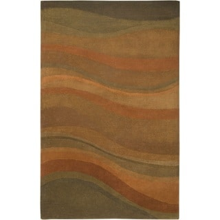 Rizzy Home Colours New Zealand Wool Hand-tufted Accent Rug (2' x 3')
