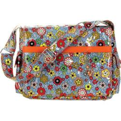 Hadaki by Kalencom Cushioned Multitasker Floral Swirl 15.4-inch Laptop Messenger Bag