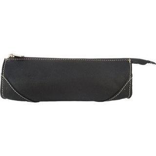 Women's Piel Leather Brush Pencil Bag 2583 Black Leather