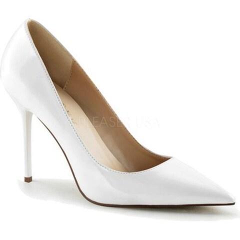 Women's Pleaser Classique 20 Pump White Patent