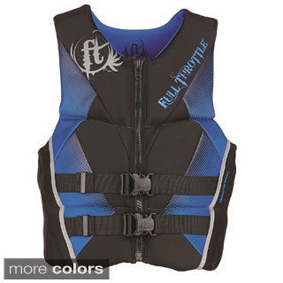 Full Throttle Youth Hinged Rapid-Dry Flex-Back Vest, Purple (2 options available)