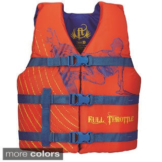 Full Throttle Youth Character Vest, Orange