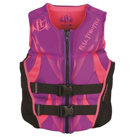 Full Throttle Women's Hinged Rapid-Dry Flex-Back Vest, Purple (Med) - Adult