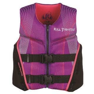 Full Throttle Child Hinged Rapid-Dry Flex-Back Vest, Purple/Pink (Option: Purple)