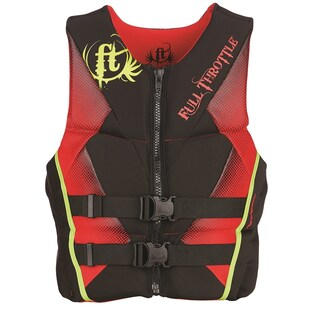 Full Throttle Child Hinged Rapid-Dry Flex-Back Vest, Purple/Pink (Option: Red)