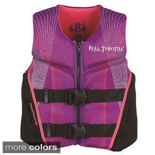 Full Throttle Child Hinged Rapid-Dry Flex-Back Vest, Purple/Pink