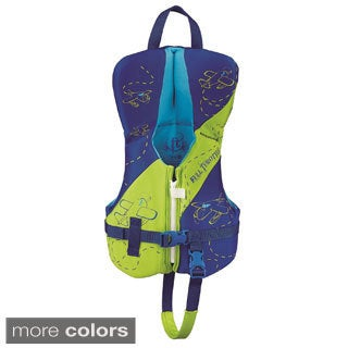 Full Throttle Youth Hinged Rapid-Dry Flex-Back Vest, Green/Blue - infant (2 options available)