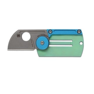 Spyderco Titanium Dog Tag Folding Knife, 1.23""