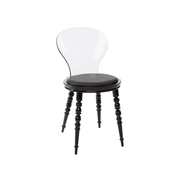 Polycarbonate Cinderella Dining Chair with Padded Seat