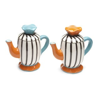 Blue Brulee Mini Tea Pots by La Cote (Set of 2)