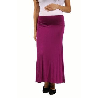 24/7 Comfort Apparel Women's Maternity Maxi Skirt