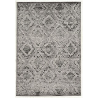 Linon Platinum Collection Santa Fe Gray/Black Rug (8' x 11') (Overstock Exclusive)