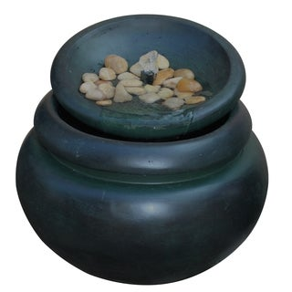 Peaktop Outdoor Garden Round Stone Fountain