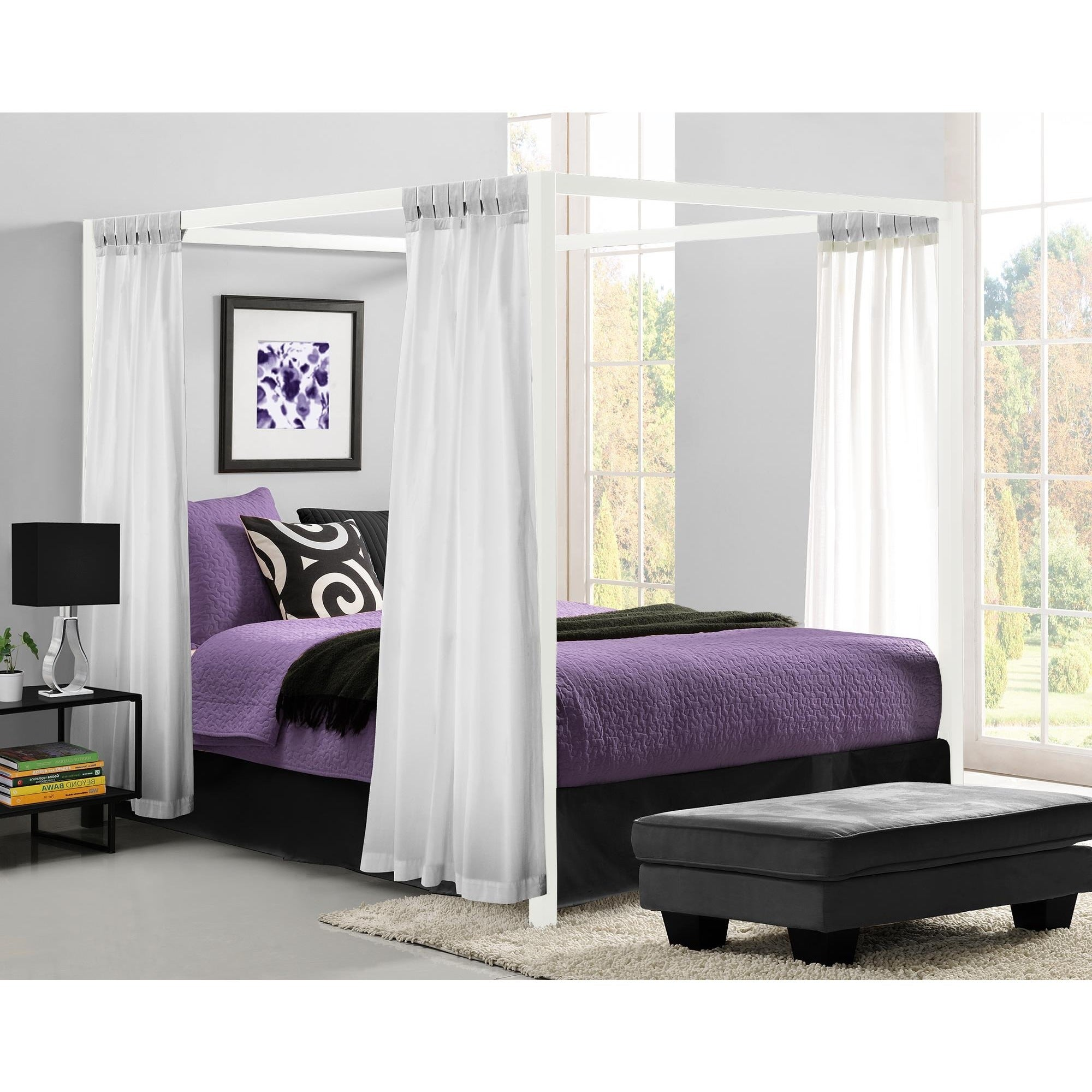 bc6bae746d52 Shop DHP Modern Canopy Queen Metal Bed - On Sale - Free Shipping Today -  Overstock - 10214076
