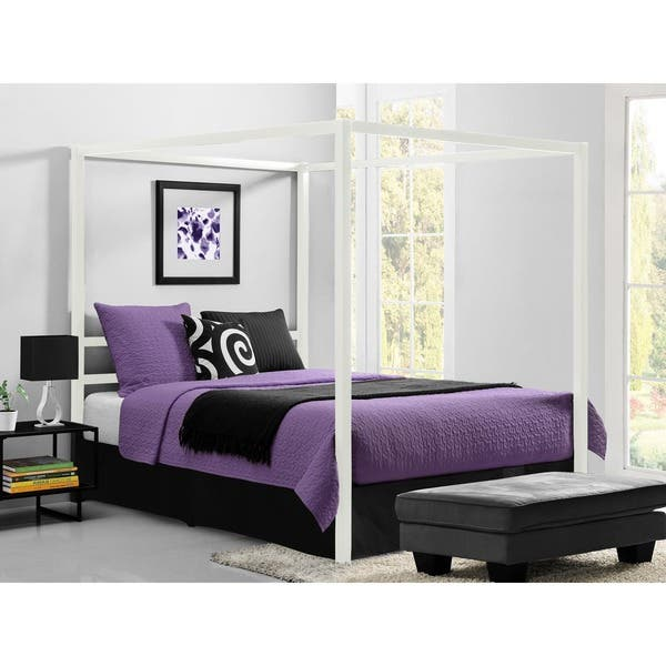 789142fc039c Shop DHP Modern Canopy Queen Metal Bed - On Sale - Free Shipping ...