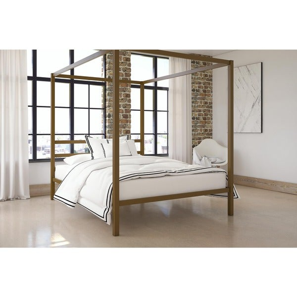 DHP Modern Canopy Queen Metal Bed   Free Shipping Today   Overstock com    17336506. DHP Modern Canopy Queen Metal Bed   Free Shipping Today