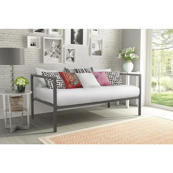 living room day bed shop dhp modern tribeca metal daybed free shipping today 16488
